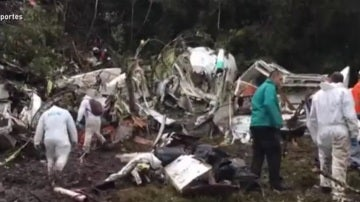 El avión siniestrado del Chapecoense