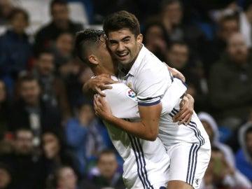 Enzo Zidane celebra un gol