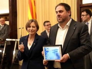 Oriol Junqueras y Carme Forcadell