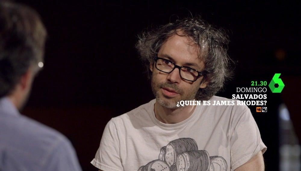 Jordi Évole y James Rhodes en Salvados