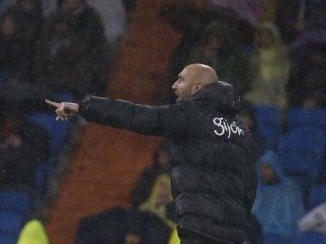 Abelardo, en un partido del Sporting