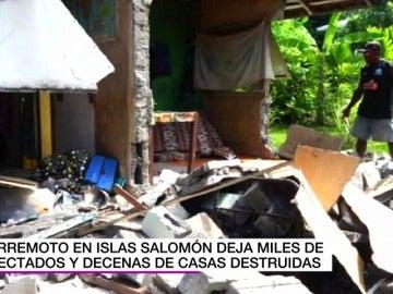 Frame 5.50239 de: Un terremoto de magnitud 7,8 en Islas Salomón destruye casas y deja miles de afectados