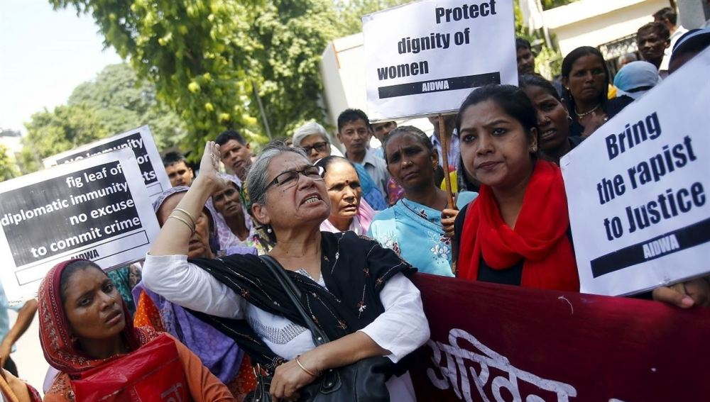 Manifestación en la India contra la falta de protección a las víctimas de violación.