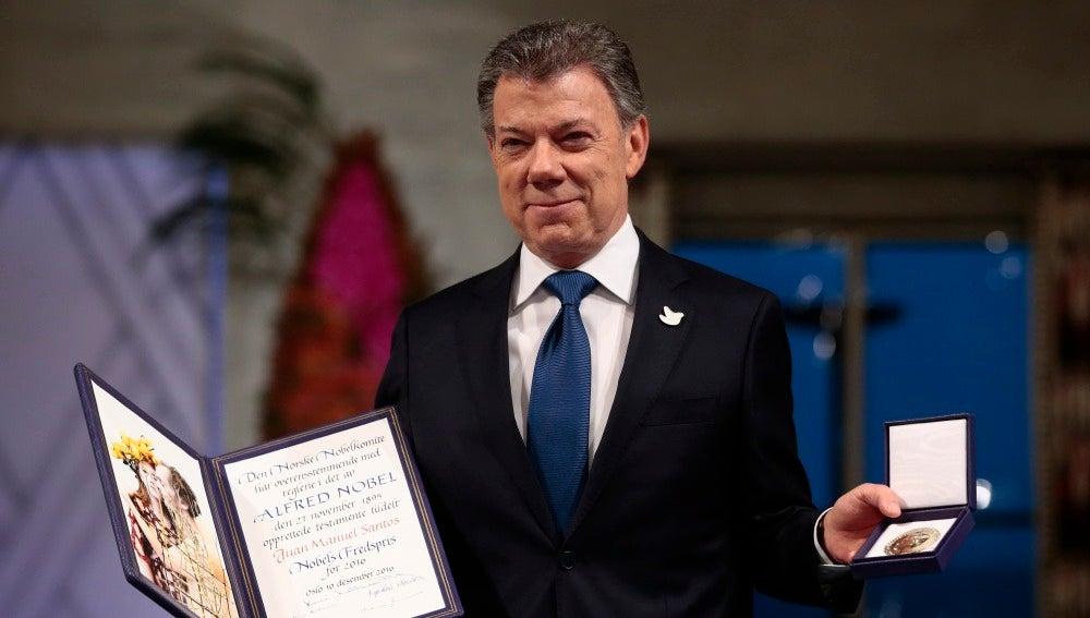 Juan Manuel Santos recibe el Nobel de la Paz