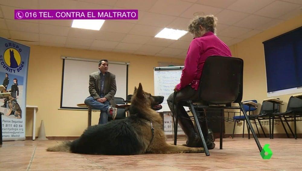 Frame 34.225732 de: Una iniciativa consigue que perros adiestrados protejan a mujeres contra la violencia machista