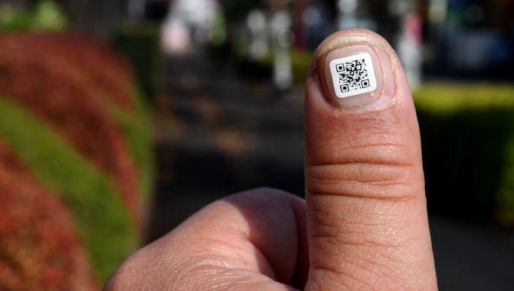 El código QR permite a los agentes policiales obtener información del usuario