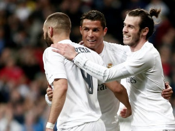 Benzema, Bale y Cristiano