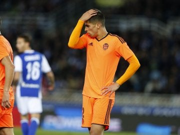 Joao Cancelo en el partido frente a la Real Sociedad
