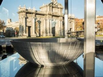 La réplica de la Estrella de la Muerte que se está construyendo en Madrid