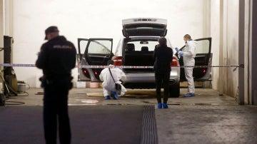 Vehículo en el que fue asesinada la viuda del expresidente de la CAM
