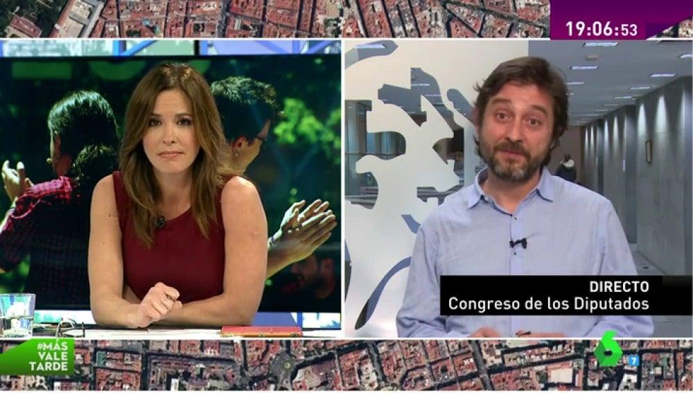 """Frame 8.718812 de: Rafael Mayoral: """"No creo que dentro de Podemos haya gente que se esté quedando fuera"""""""