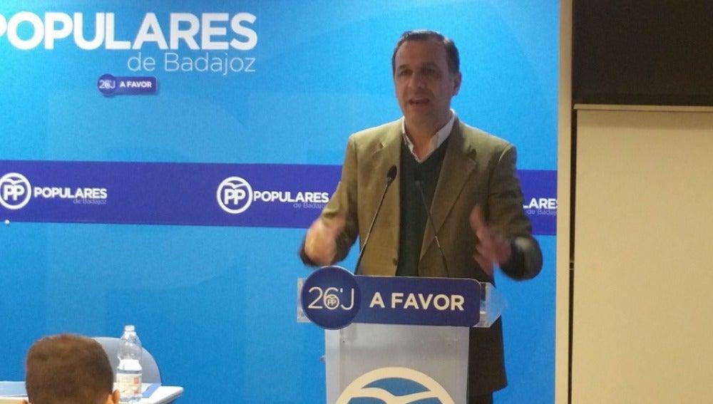 Juan Antonio Morales, secretario provincial del PP de Badajoz y diputado de la Asamblea de Extremadura