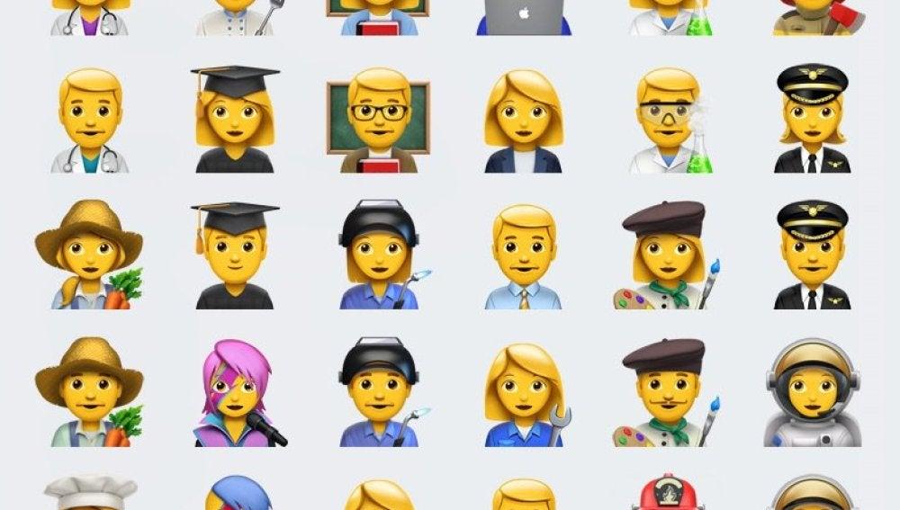 Nuevos emojis con profesiones