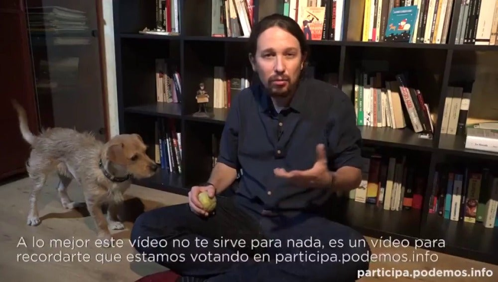 Frame 12.163197 de: Pablo Iglesias pide ayuda para su perro Tirso