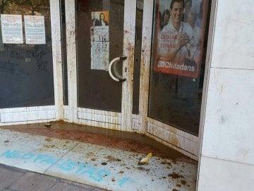 Ataque a la sede de C's en L'Hospitalet de Llobregat