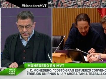 """Frame 30.952943 de: Juan Carlos Monedero, a Errejón: """"Cuando pierde tu proyecto político tienes que irte"""""""