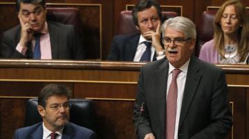 Alfonso Dastis, ministro de Asuntos Exteriores, en el Congreso de los Diputados