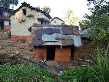 Imagen de un cobertizo en el que se refugian las mujeres que realizan esta práctica
