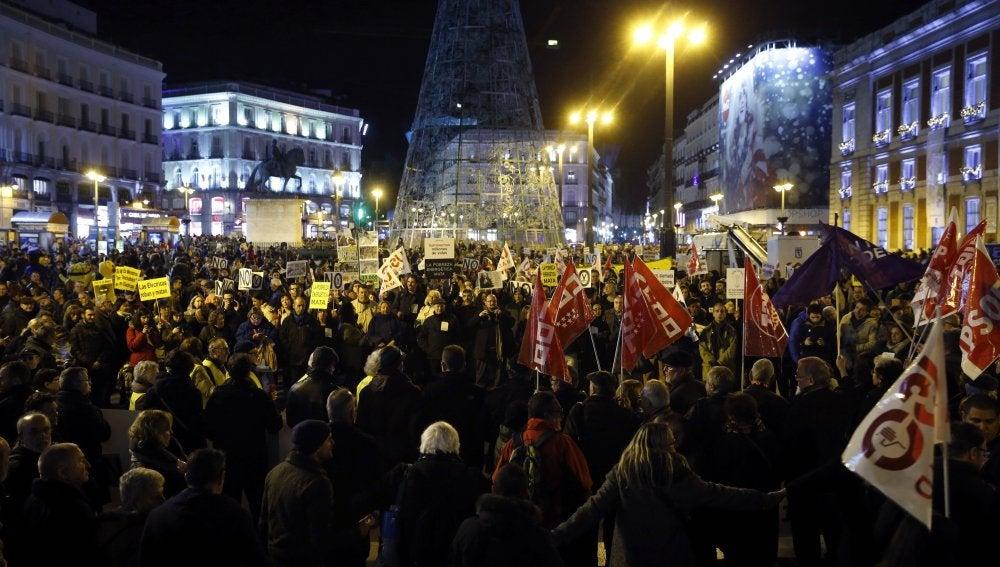 Movilización contra la pobreza energética en Madrid