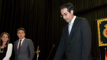 Fernando Suárez Bilbao en el acto de su toma de posesión como rector