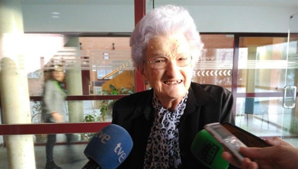 Pepa, de la residencia 'Peñuelas' de Madrid, agraciada con El Gordo