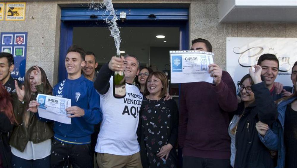 Agraciados con el segundo premio del Sorteo Extraordinario de la Lotería de Navidad