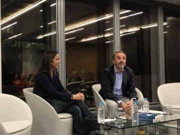 Silvia Barrera, en la presentación de su libro