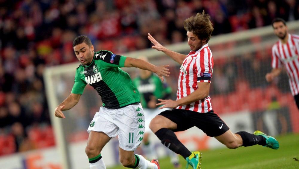 Yeray, en un partido ante el Sassuolo
