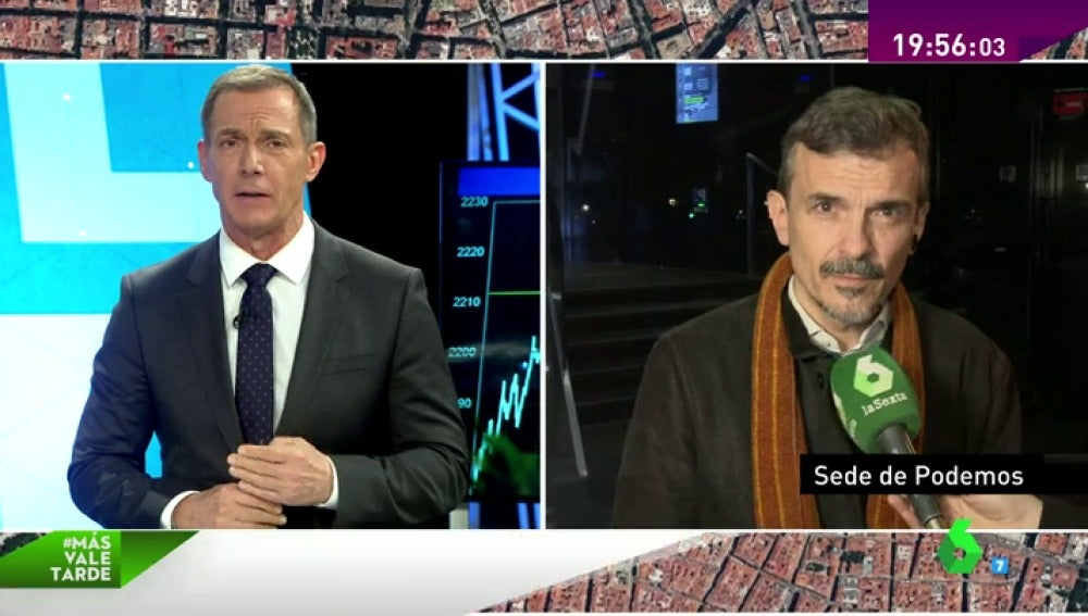 """Frame 6.23194 de: José Manuel López: """"Por la mañana hablamos de integración y por la tarde de ceses. Es vieja política,  queremos otro Podemos"""""""