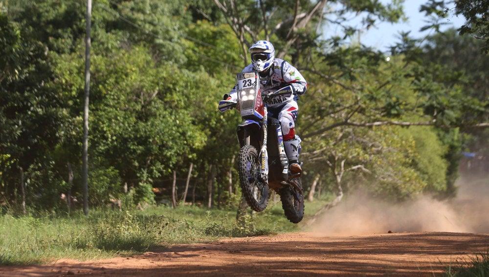 El francés De Soultrait durante la disputa del Rally Dakar