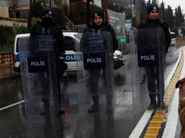 Dispositivo policial en Estambul