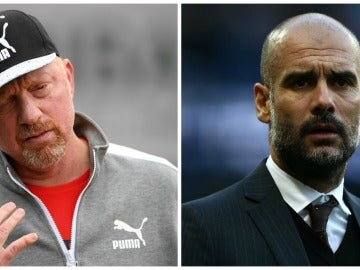 Boris Becker y Pep Guardiola