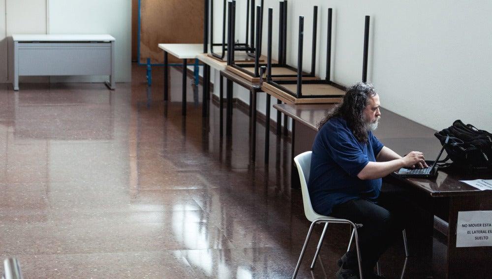 Richard Stallman en su reciente visita a Sevilla