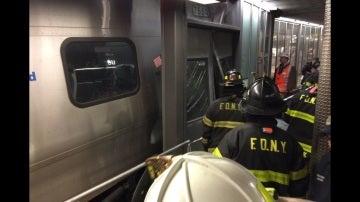 Accidente de tren en Brooklyn