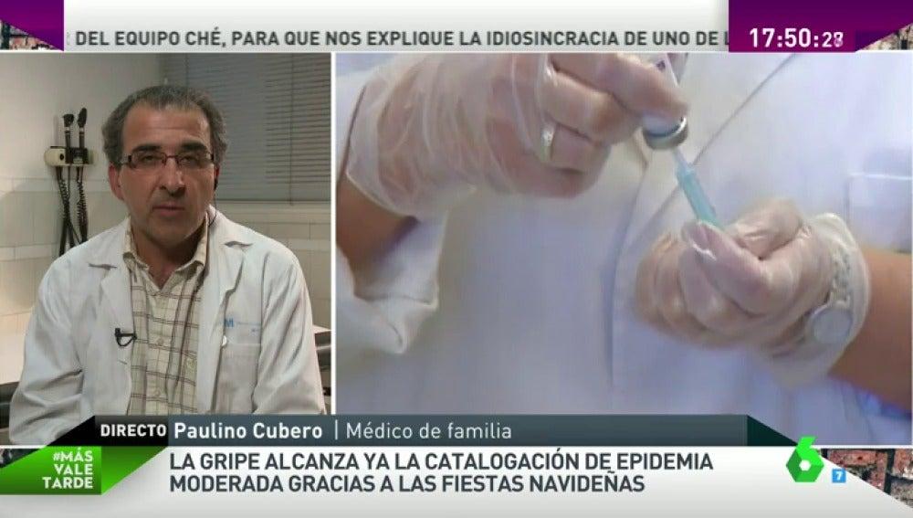 """Frame 54.067443 de: Paulino Cubero, médico de familia: """"Hay que ir a Urgencias por la gripe si hay signo de gravedad"""""""