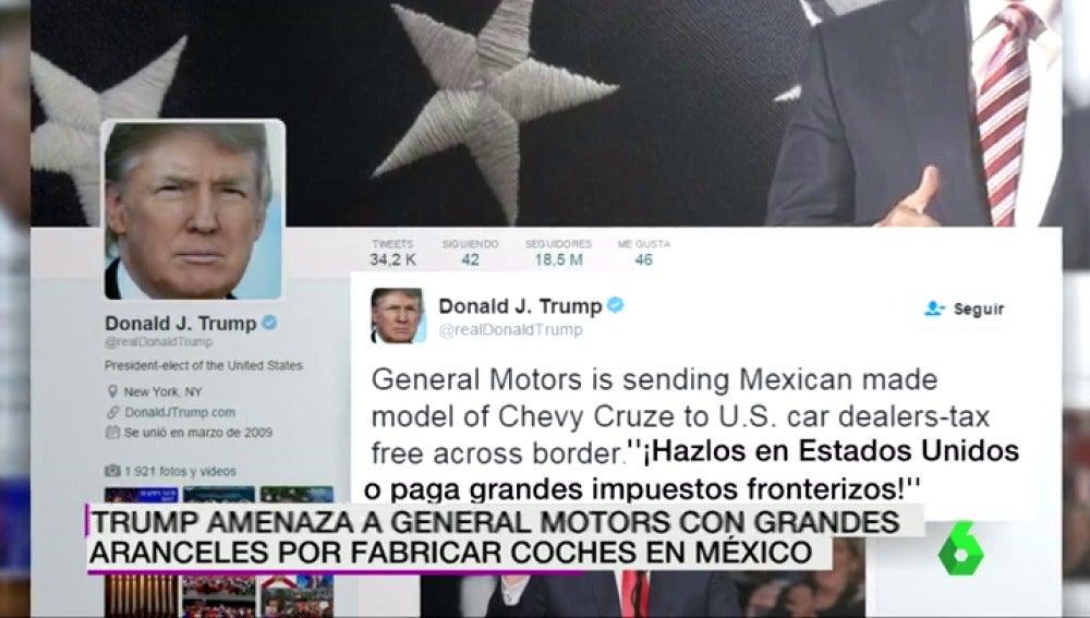 """Frame 9.82031 de: Trump amenaza a General Motors si sigue fabricando en México y Ford cancela su nueva planta allí como """"voto de confianza"""" a Trump"""