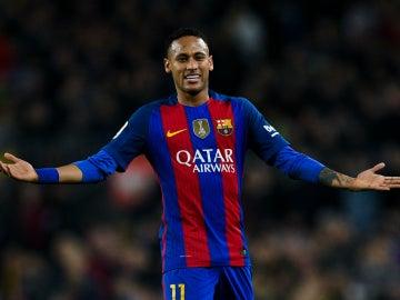 Neymar, en un partido con el Barça