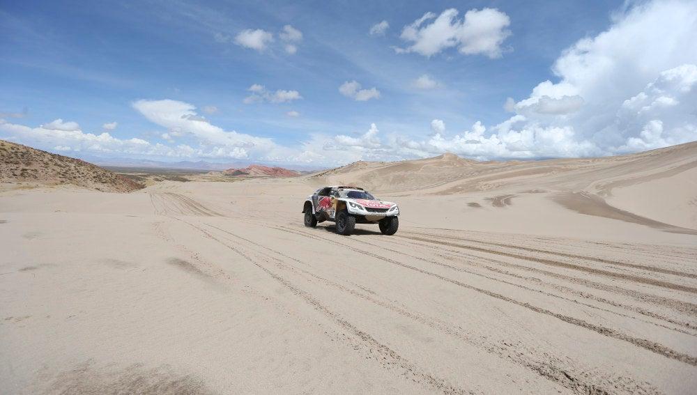 Cyril Despres en la cuarta etapa del Rally Dakar