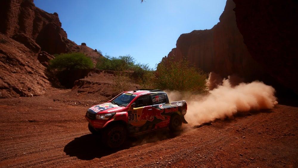 Nasser Al-Attiyah, en la tercera etapa del Dakar