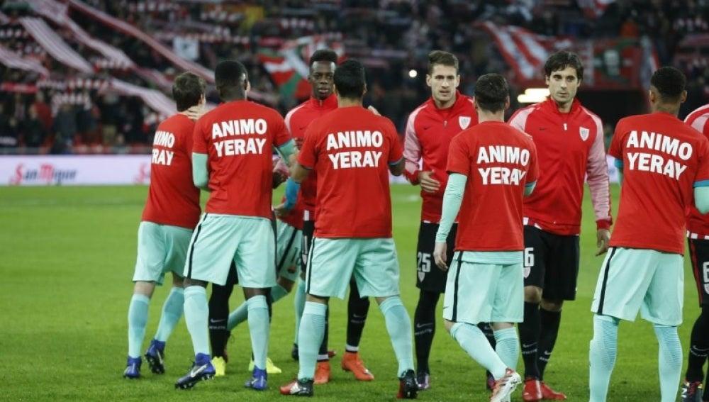 Ánimo Yeray Álvarez, las camisetas del Barça