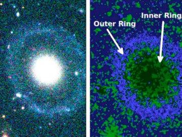 Nueva galaxia con dos anillos