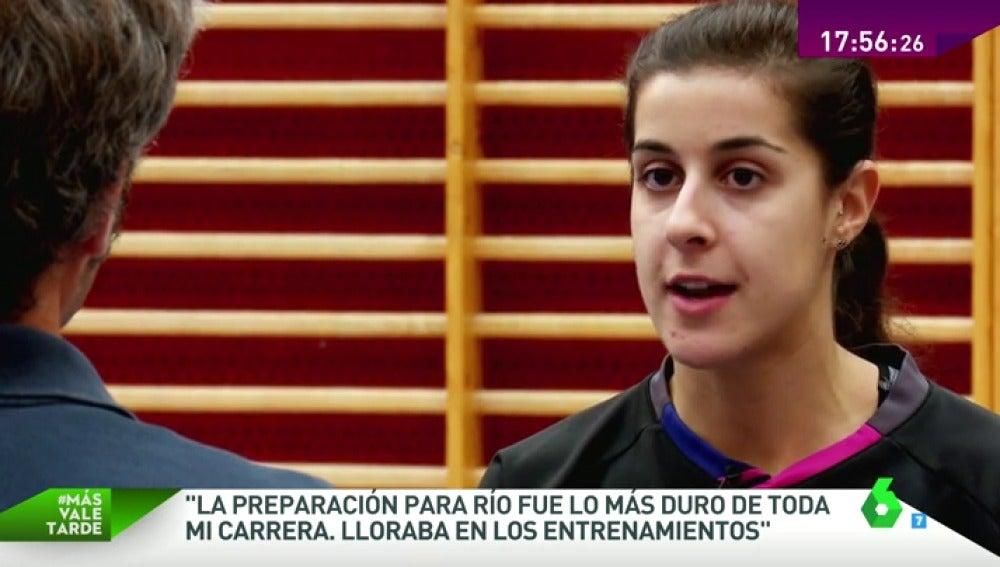 """Frame 182.462524 de: Carolina Marín: """"Al principio era muy mala y para mí era impensable llegar a ser una campeona olímpica"""""""