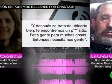 Frame 59.754716 de: Dimite el secretario de la comisión de garantías de Podemos en Baleares tras ser grabado en un presunto chantaje
