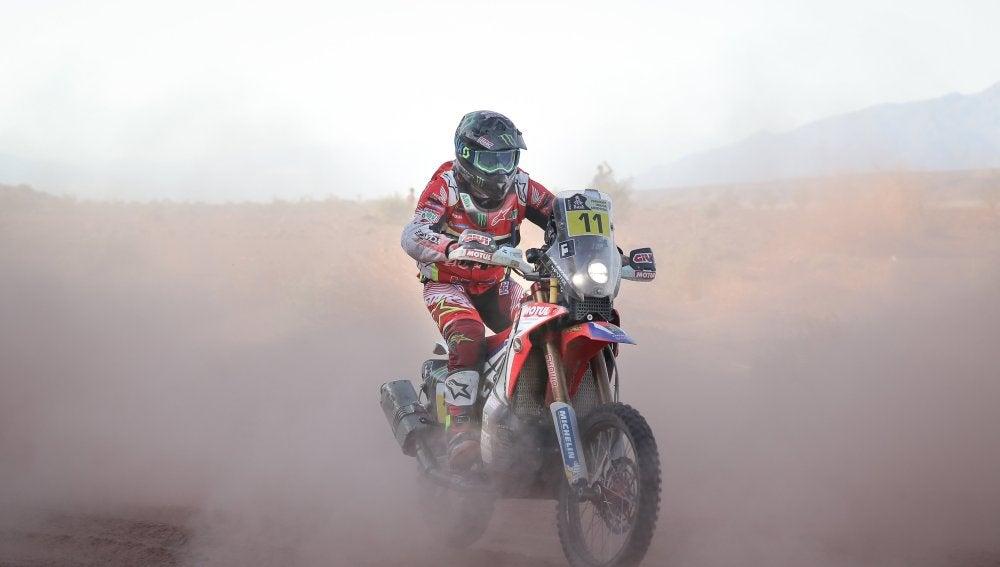 Joan Barreda durante la cuarta etapa del Dákar