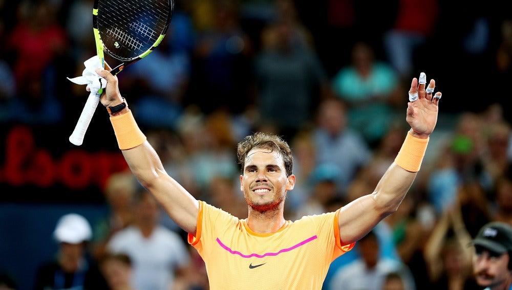 Rafa Nadal tras derrotar a Zverev