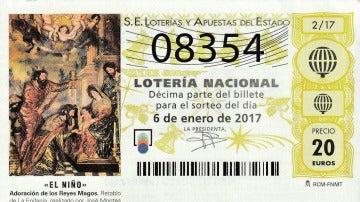 Número agraciado con el premio premio de la Lotería de El Niño
