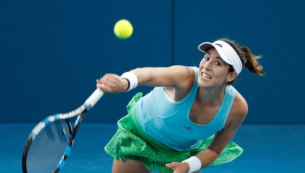 Muguruza en el torneo de Brisbane