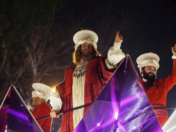El Rey Gaspar en la Cabalgata de Reyes