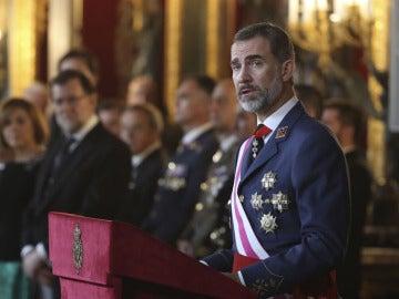 Felipe VI durante la Pascua Militar