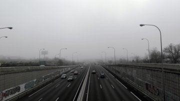 Bancos de niebla en la M-40